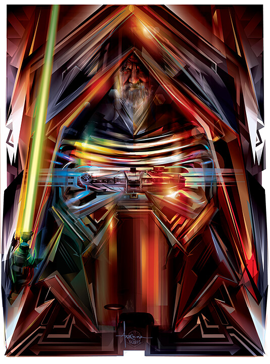 Star Wars: The Force Awakens Adversaries By Orlando Arocena - Kylo Ren and Luke Skywalker