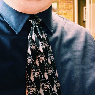 Why yes, I *am* wearing my Darth Vader tie, thanks for noticing. #starwars #nerdingout | by Gus Dahlberg