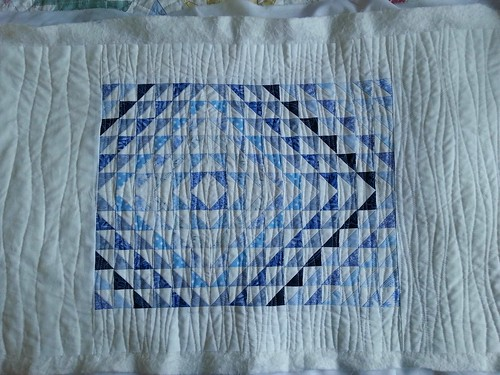 Blue and white hst cushion 2