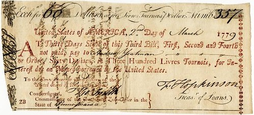 1779 Continental Loan Office Bill of Exchange