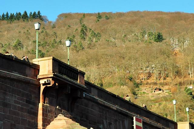 """""""Unterwegsfotos"""" ... Fahrt durch Heidelberg ... Durchreise Richtung Mannheim ... Altstadtseite des Neckars ... Januar 2017 ... Foto: Brigitte Stolle, Mannheim"""