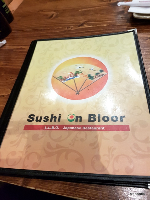 Sushi on Bloor menu cover