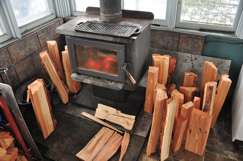 Drying out the firewood
