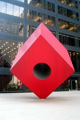 Noguchi's Red Cube by Wally Gobetz, on Flickr