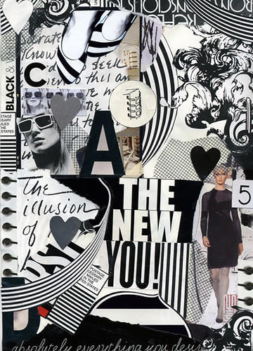 Black and white collage by shauna haider