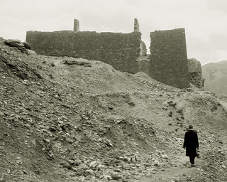 Man walking to temple ruin, central Tibet | by Hibachirama (Mary)