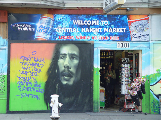 Bob marley mural on haight street flickr photo sharing for Bob marley mural