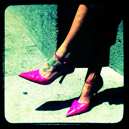 Pink Pumps and Green Frog | by rustman