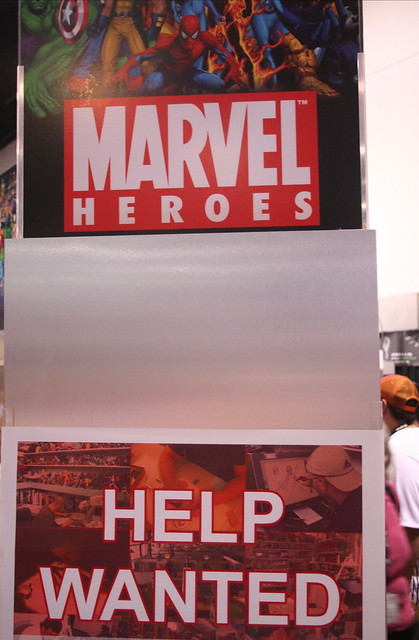 Marvel Heroes has a help wanted sign Explore ewen and