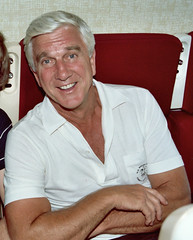 Leslie Nielsen (on an airplane) | by Alan Light
