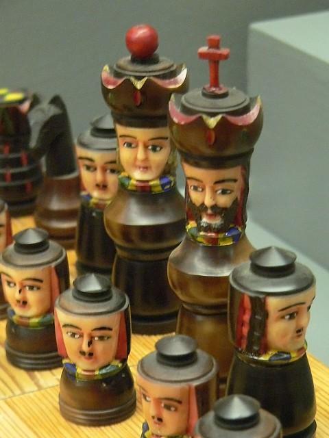 Chess Set Ecuador Painted Tagua Palm Nut 19th century CE ...