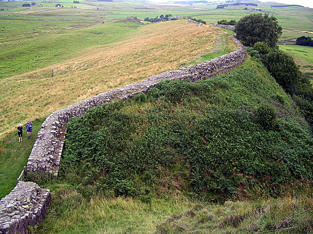 curtain wall east of Milecastle 42