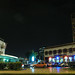 Station Casa Port and Center 2000 center in Casablanca, by night