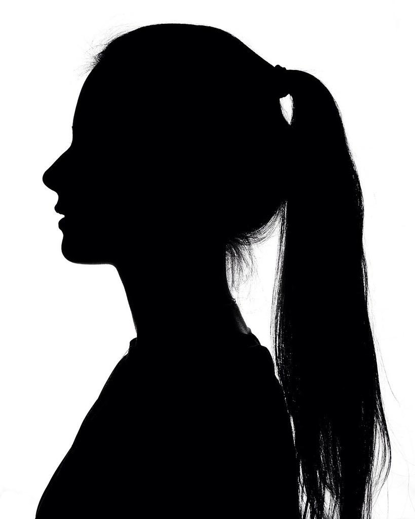 017 silhouette portrait blackandwhite black white niko flickr. Black Bedroom Furniture Sets. Home Design Ideas