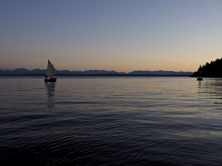 evening sail in Whaletown Bay | by Dale Simonson