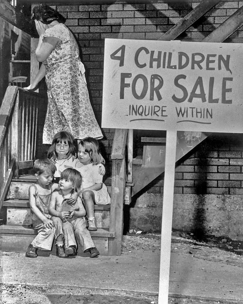 4 Children For Sale Mother Hides Her Face In Shame After