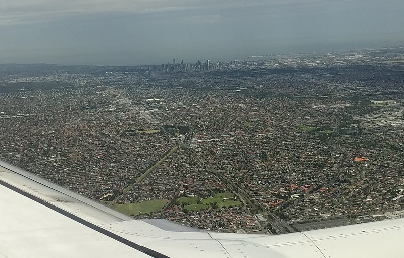 Melbourne from a 737