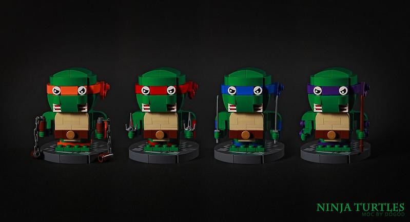 【狗神磚創Moc】忍者龜 X Ninja Turtles