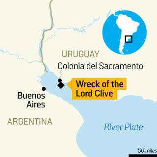 Lord Clive wreck map