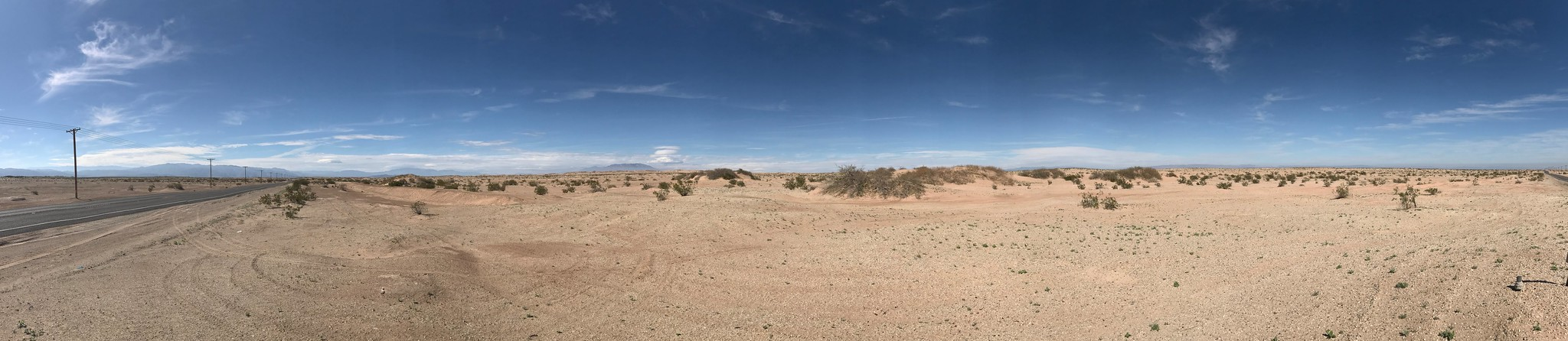 Panorama from Hwy 78, on my way to Borrego Springs.