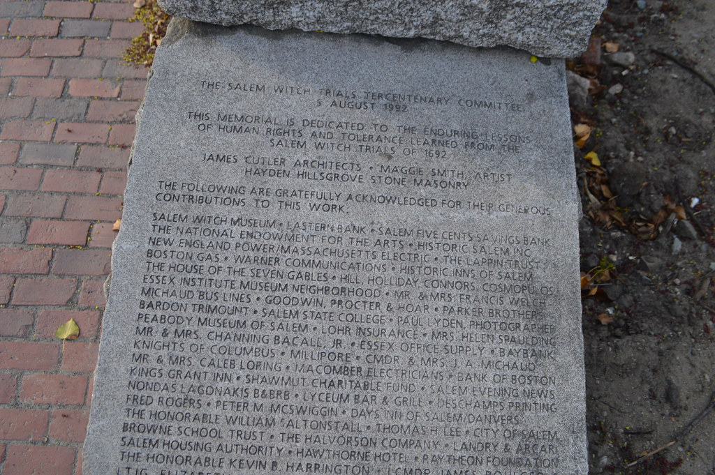 the salem witch trials of 1692 memorial at the charter str flickr