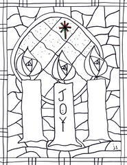 advent coloring pages joy - photo#2