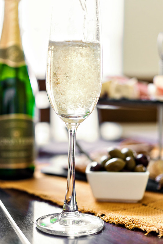 champagne charcuterie