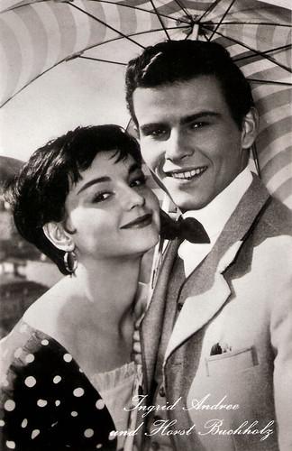 Ingrid Andree and Horst Buchholz in Bekenntnisse des Hochstaplers Felix Krull (1957)