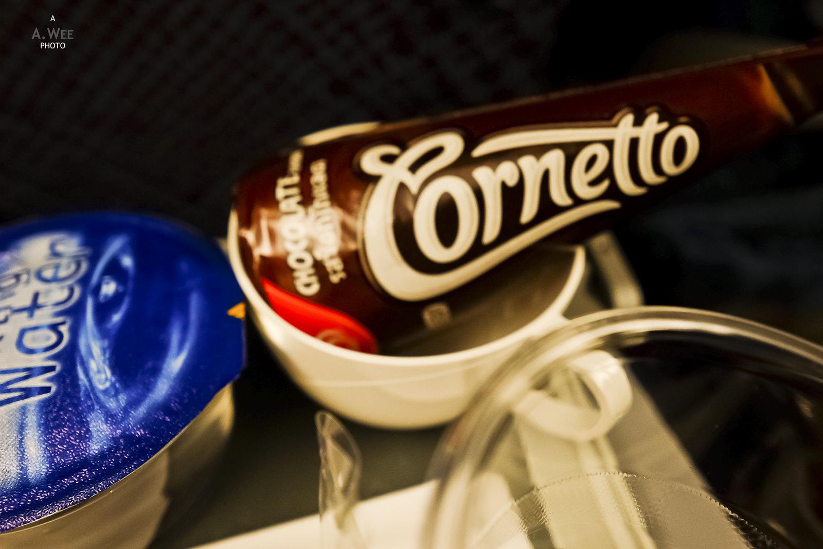 Cornetto for dessert