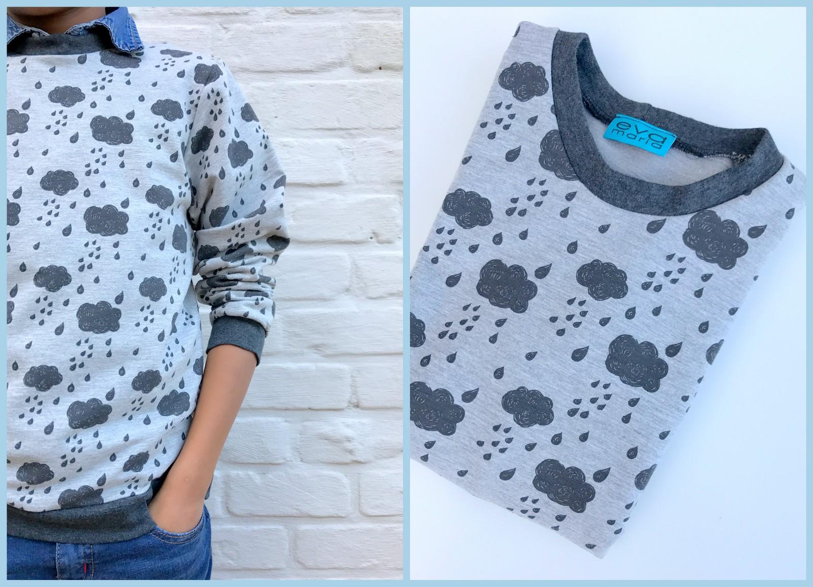 rainy sweater (collage)