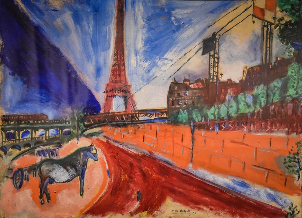 Marc Chagall - Le Pont de Passy et la Tour Eiffel, 1911 at ...