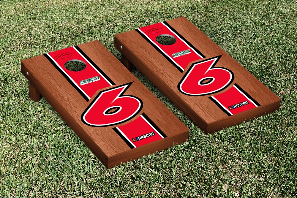 TREVOR BAYNE #6 CORNHOLE GAME SET ROSEWOOD STAINED STRIPE VERSION