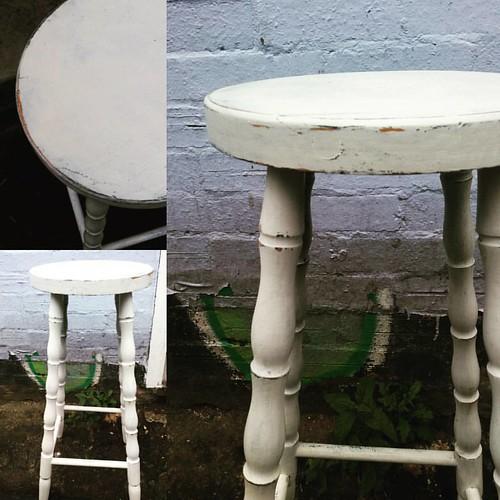 Pine Kitchen Bar Stool In Miss Mustard Seed Milk Paint Bix