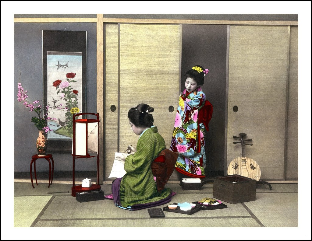 art writing Geisha
