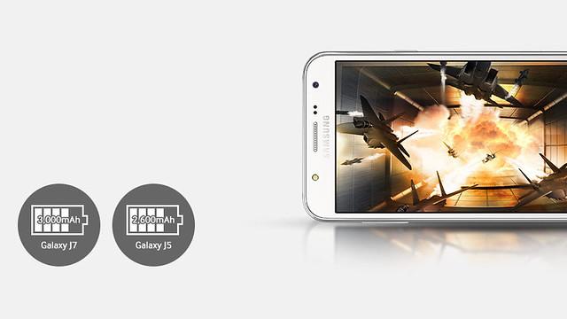 Samsung Galaxy J5 có thời lượng pin dài hơn