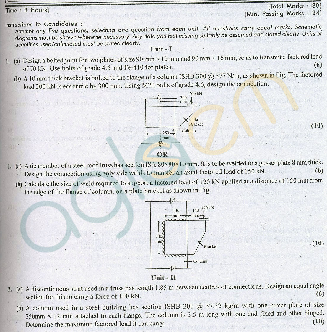 RTU: Question Papers 2013 - 5 Semester - CE - 5E3153