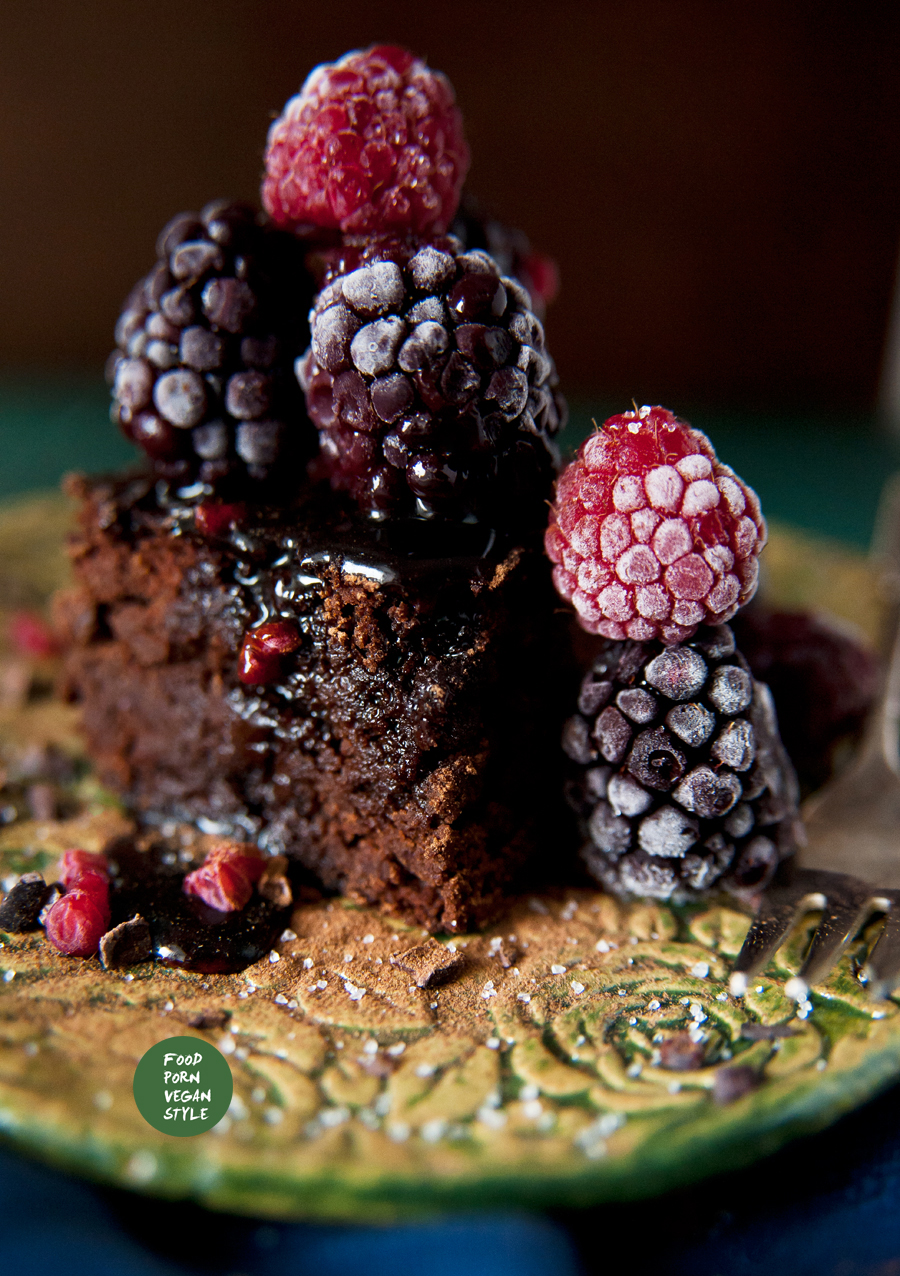 Vegan bean brownie