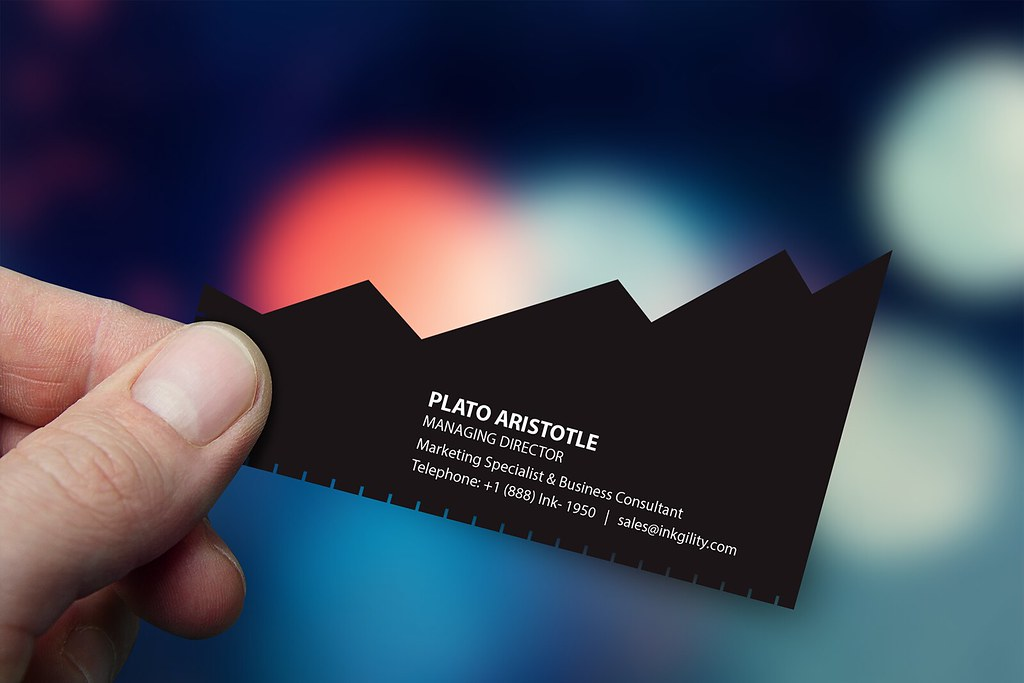 Custom Business Card | CLIMBING UP (16PT. CUSTOM SHAPE) | INKGILITY ...
