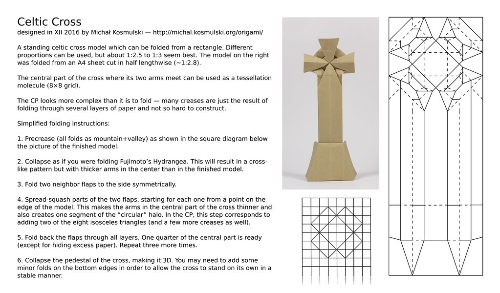 Celtic Cross Cp And Basic Instructions Crease Pattern And Flickr
