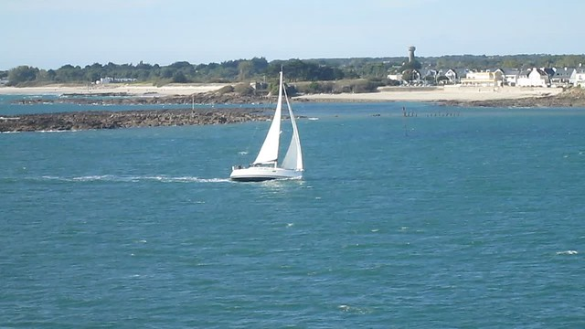 Yacht and Pilot boat near Lorient