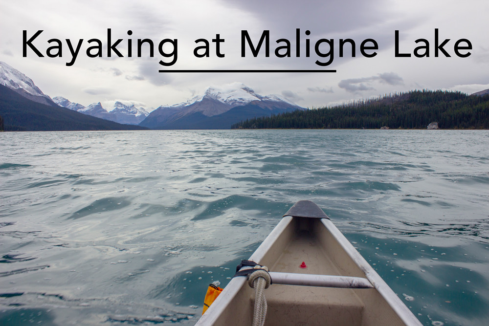 Kayaking at Maligne Lake