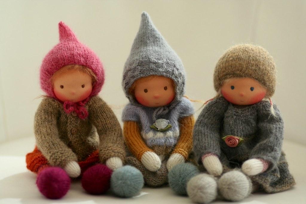"Knitted Waldord doll 13"" by Peperuda dolls | www.etsy.com ..."