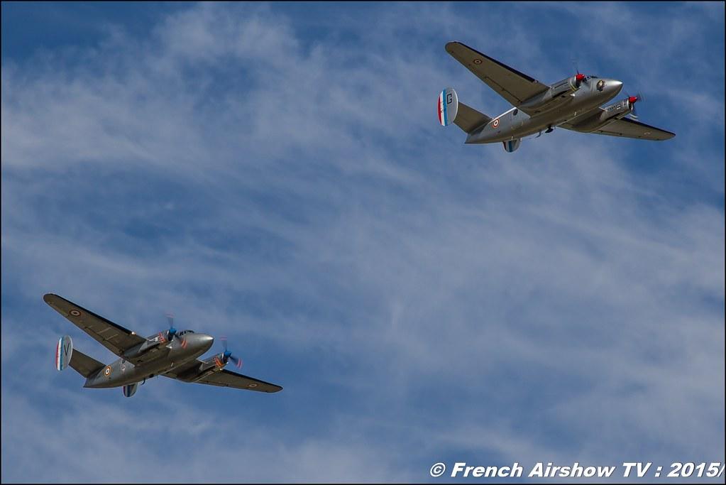 Patrouille Flamant, Dassault MD 312 'Flamant' - F-AZVG ,'Ailes Anciennes de Lyon-Corbas ,, Feria de l'air 2015,BAN Nimes-Garons, Feria de l'air nimes 2015, Meeting Aerien 2015