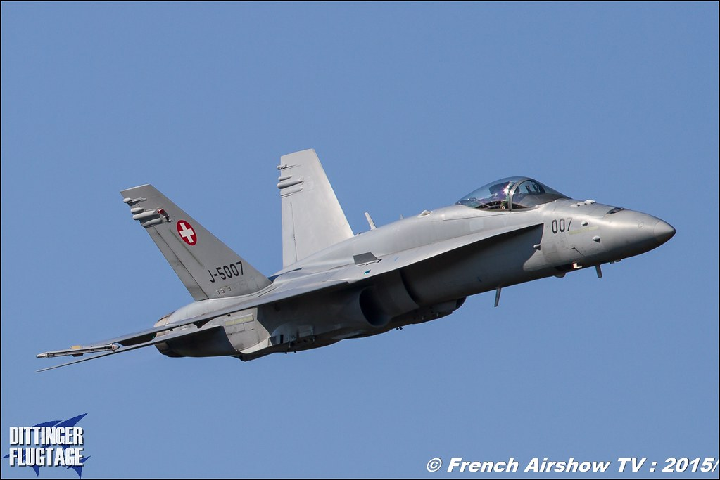 F/A-18 Hornet Solo Display - CH , F-18 hornet suisse display ,DITTINGER FLUGTAGE 2015 , Internationale Dittinger Flugtage , Dittingen Flugtage 2015 , Suisse Airshow , Dittinger Flugtage, Meeting Aerien 2015