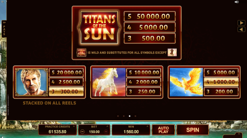 free Titans of the Sun - Hyperion slot payout