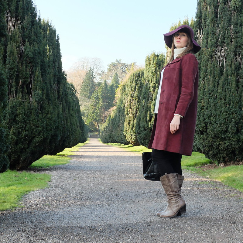 60s suede coat tyntesfield