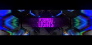 VJ Distorted Lights (4K Set 8)