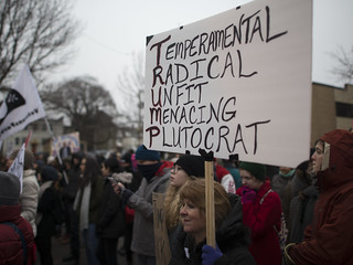 Protest against Donald Trump on inauguration day | by Fibonacci Blue