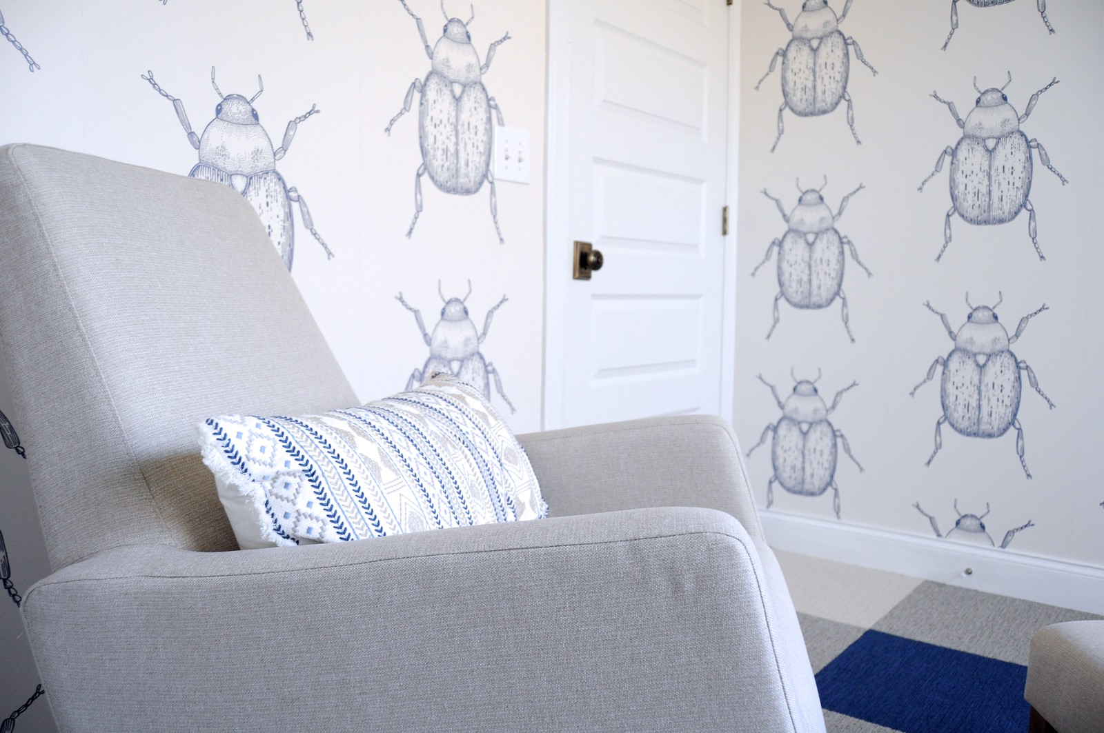 Beetle Wallpaper for Baby Boy Nursery