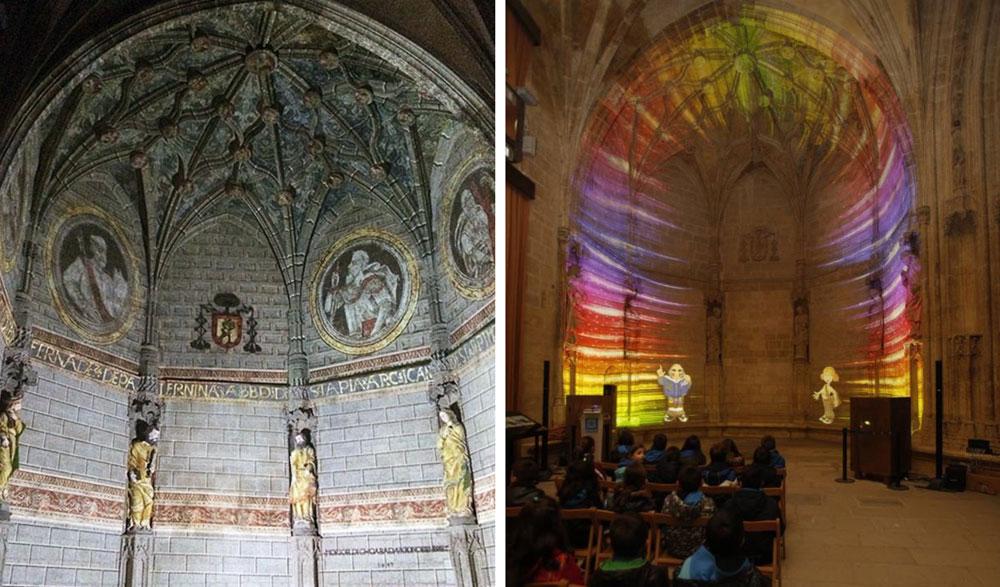 vídeo mapping-pórtico santa maria de vitoria-realidad aumentada-patrimonio difusión-sant climent de taüll